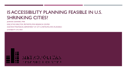 Is Accessibility Planning Feasible in U.S. Shrinking Cities