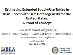 Estimating Extended Supply-Use Tables in Basic Prices with