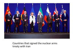 Countries that signed the nuclear arms treaty with Iran PowerPoint PPT Presentation