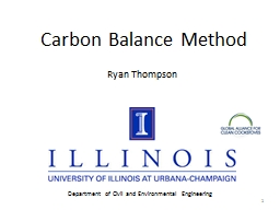 Carbon Balance Method