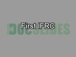 First IFRC