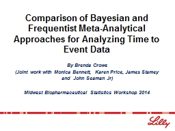Comparison of Bayesian and