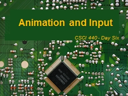 Animation and Input PowerPoint PPT Presentation