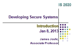 Developing Secure Systems