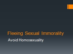 Fleeing Sexual Immorality PowerPoint PPT Presentation