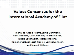 Values Consensus for the