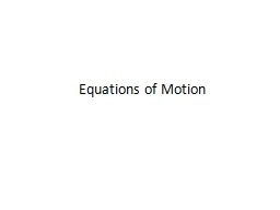 Equations of PowerPoint PPT Presentation