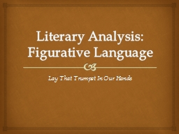 Literary Analysis: Figurative Language