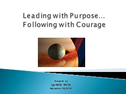 Leading with Purpose…