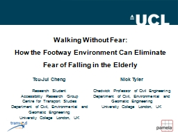 Walking Without Fear: PowerPoint PPT Presentation