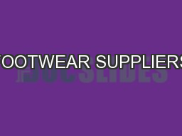 FOOTWEAR SUPPLIERS