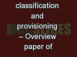 Loan classification and provisioning – Overview paper of