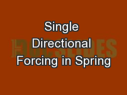 Single Directional Forcing in Spring