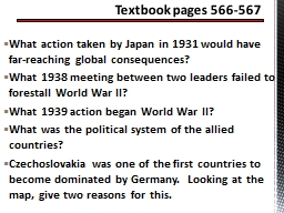 What action taken by Japan in 1931 would have far-reaching