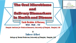 The Oral Microbiome PowerPoint PPT Presentation