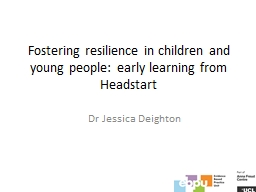 Fostering resilience in children and young people: early le