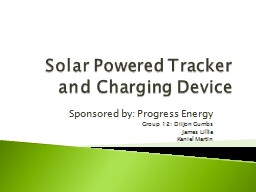 Solar Powered Tracker and Charging Device