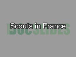 Scouts in France