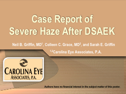 Case Report of