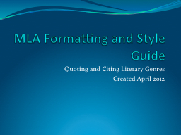 mla formatting and style Mla (modern language association) style formatting is often used in various humanities disciplines in addition to the handbook, mla also offers the mla.