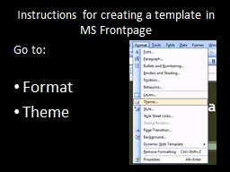 Instructions for creating a template in MS