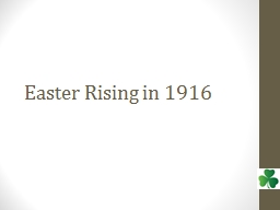 Easter Rising in 1916