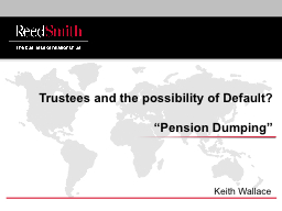 Trustees and the possibility of Default?