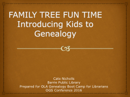 FAMILY TREE FUN TIME