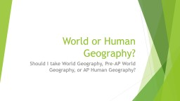 World or Human PowerPoint PPT Presentation