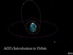 AGI's Introduction to Orbits