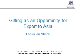 Gifting as an Opportunity for Export to Asia