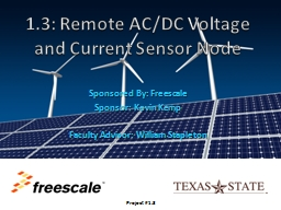 1.3: Remote AC/DC Voltage and Current Sensor Node