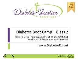 Diabetes Boot Camp – Class 2