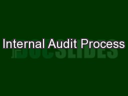 Internal Audit Process