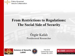 From Restrictions to Regulations: