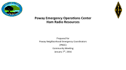 Poway Emergency Operations Center