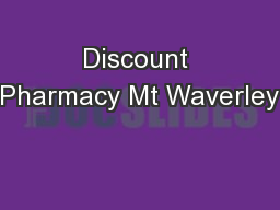 Discount Pharmacy Mt Waverley