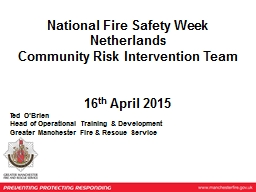 National Fire Safety Week PowerPoint PPT Presentation
