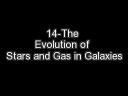 14-The Evolution of Stars and Gas in Galaxies