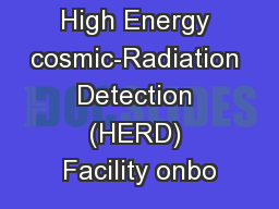 High Energy cosmic-Radiation Detection (HERD) Facility onbo