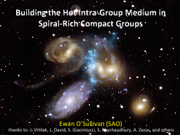 Building the Hot Intra-Group Medium in Spiral-Rich Compact