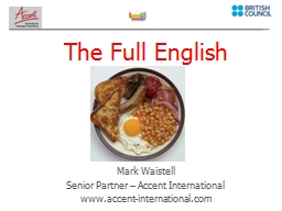 The Full English PowerPoint PPT Presentation