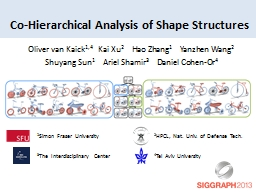 Co-Hierarchical Analysis of Shape Structures