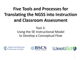 Five Tools & Processes for NGSS