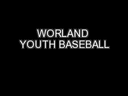 WORLAND YOUTH BASEBALL