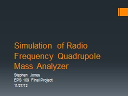 Simulation of Radio Frequency