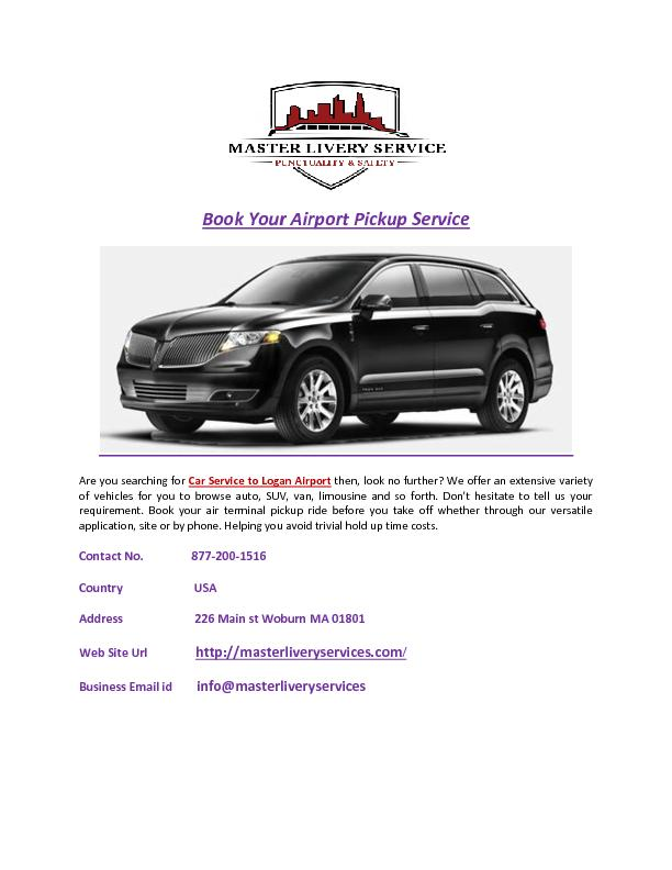 Book Your Airport Pickup Service