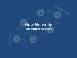 Flow Networks PowerPoint PPT Presentation