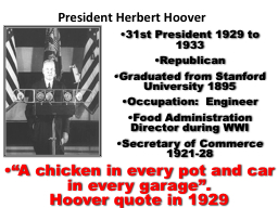 31st President 1929 to 1933