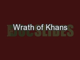 Wrath of Khans